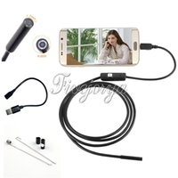 android camera lenses - 1M Long Adjustable LED mm Lens Endoscope P Android PC USB Endoscope Inspection Borescope Tupe Camera Waterproof CCTV Cameras
