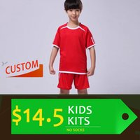 Cheap Kids Kits (Shirt & Shorts) Wholesale & Reseller Soccer jersey custom team football shirt the Best quality (Resller contact me))