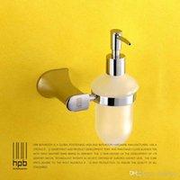 Wholesale Han Pai Brass Bathroom Accessories Soap Dispenser Wall Mounted Dispensador de jabon Bath Acessorios de banheiro HP7720
