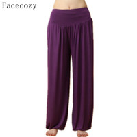 Wholesale Facecozy Women s Loose Style Elastic Wasit Martial Arts Pants Breathable Comfortable Fitness Kung Fu amp Tai Chi Pants