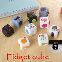 activity cube toy - PVC Fidget Cube Toys New Decompression Toys Anti Stress Relief Focus For Adults Children Activity Amusement Toys Gifts PX M02