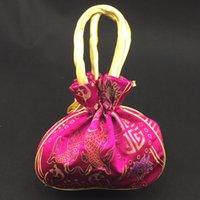 bag house purses - Jacquard Silk Brocade Large Gift Bag Handle Drawstring Packaging Pouch Handbag Coin Purse Storage Bag Christmas Wedding Birthday Party Favor