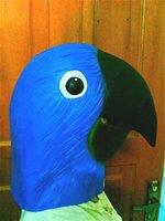 bars program - Cute animal headgear mask headgear mask pigeon parrot program activity performance props bar party mask