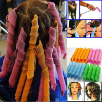Wholesale Magic leverag hair curler Roller curls plastic Circle Hair Styling perm rolls hair roller set