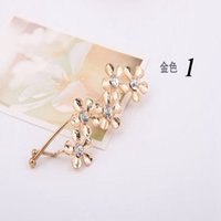 Wholesale Hot Sell Fashion Women s The Bohemian Style Hair Barrettes Rhinestone Retro Flower Hair Clips New Arrival