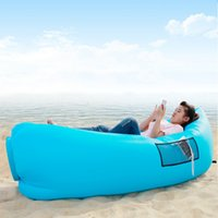 backpacking usa - Waterproof Inflatable Sleeping Bags Lazy Beach Camping Sofa Fast Air Filling Sleeping Bags with Side Pocket Hot Sale in USA