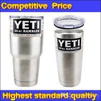 Wholesale Hot Bilayer Stainless Steel Insulation Cup OZ OZ YETI Cups Cars Beer Mug Large Capacity Mug Tumblerful DHL forcity