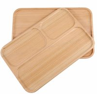 Wholesale Wooden Cutlery Plates Tray Wood Tray Bread Dessert Tea Plate Solid Wood Board