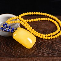 beeswax oil - Pineapple natural sea beeswax All is well pendant side card yellow sweater chain necklace amber chicken oil men and women