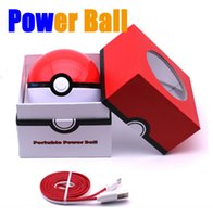 battery powered toys - Pokeball For Poke Go Toy Power Bank mAh Portable Charger External Battery Ball USB Powerbank For iPhone Phones With LED Light