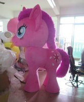 Wholesale Customized ProfessionalStand up my little pony legged PINKIE pie Mascot Costume Festival Party Adult Sz