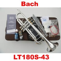 Wholesale NEW Bach Trumpet S little drops the little instrument surface silver inventory of brass Bb trumpet