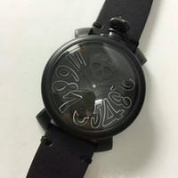 Wholesale 2016 Neymar same paragraph skull gaga watch big dial manual mechanical watch popular luxury gaga milano watch for men