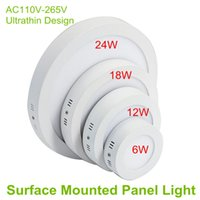 Wholesale Dustproof W W W W Round LED Panel lights Slim LED Ceiling Lights Degree Smart IC Driver LED Down Lamps for Indoor Lighting