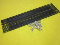 Wholesale Pillar PSR Aero Straight Pull Black Spokes Straight Flat Spokes with Free Silver Round Alloy Nipples