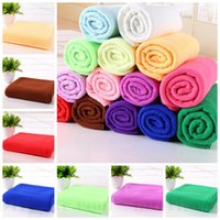 baby body wrap - Microfiber Bath Towels Absorbent Beach Towel Super Soft Shower Towels Spa Body Wrap Travel Camping Towels Washcloth Drying Swimwear D36