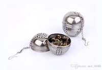 ball steel cans - Stainless steel tea ball soup seasoning ball hot kitchen spice spices placed missed the ball can be hanging ball single