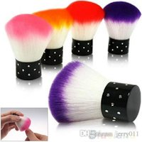 Wholesale New Hot PC Colorful Nail tools Brush For Acrylic UV Gel Nail Art Dust Cleaner Q BQ