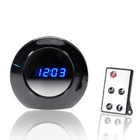 Wholesale 16GB Multi Function Alarm Clock Cam X960 Spy Clock Camera Audio Video Recorder Camcorder Motion Detection DVR Degree Wide View