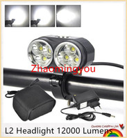 Wholesale HONG LED L2 Headlight Lumens Rechargeable Bicycle LED Light Mode Waterproof Bike Front lamp LED Headlamp with mah battery