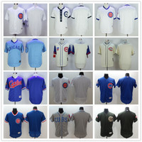 baseball number - Throwback Plain Chicago Cubs Blank Baseball Jerseys With No Name No Number Cream Grey White Army Green Blue