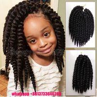 Wholesale Short length c inch havana mambo twist crochet braid hair havana twist crochet hair with gift sen
