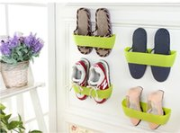 Wholesale New Colors Creative Adhesive Shoes Rack Wall Hanging Shoes Storage Organizer Hanger