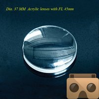 Wholesale High quality mm Double Convex acrylic lens the focal length is mm use for D lens