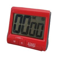 Wholesale LCD Digital Kitchen Cooking Timer Clock Loud Alarm With Stand Red