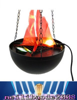 Wholesale Halloween Electric Brazier Funny Fake Fire Basket Flammen Lampe Holiday Supplies cm MYY