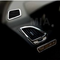 Wholesale 5pcs kit Car stainless steel upper lower air vent cover big lamp adjust button decoration ring for HYUNDAI Tucson IX35