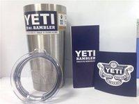 Wholesale Hot Selling Bilayer Stainless Steel or oz Rambler YETI Cup Cooler YETI Rambler Tumbler Cups Vehicle Beer Mug DHL Free