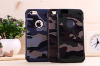 Wholesale For iphone camo case slim armor camouflage in hybrid cover phone cases for iphone s s plus
