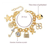 bangles braclets - ashion Jewelry Bracelets Gold Filled Chain Bracelet Fashion Bracelets For Women Full Crystal Fish Charm Braclets Bangles Luxury Jewe