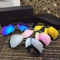 aviator eye glasses - New Brand Designer Victoria Beckham Aviators Sunglasses For Men Women Eye Glasses Eyewear Double Brige Large Coating Lenses