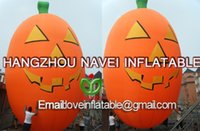 Wholesale 6m Inflatable Halloween Pumpkin Balloon for event Party decorations with blower