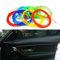Cheap 3m lot Car Styling DIY Universal Cold Line Flexible Interior Decoration Moulding Trim Strips Accessories 10 Colors