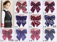 Wholesale Women s bow tie Colors Professional Bowknot For school Bank Hotel uniform dress Lady bowtie necktie Free Fedex TNT