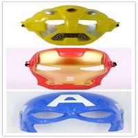 animations halloween costumes - Halloween Mask Masquerade for Children USA American Captain Iron Man Transformers PVC Mask Movie Animation Masquerade Cosplay Party Costume