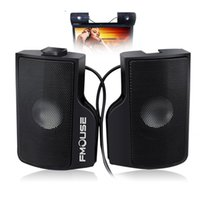 Wholesale High Quality Pair Mini Portable Clipon USB Stereo Speakers line Controller Soundbar for Laptop Notebook PC Computer with Clip