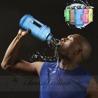 Wholesale NEW Portable L Big Large Capacity Gym Sports Water Bottle Outdoor Picnic Bicycle Bike Camping Cycling Kettle M329 B