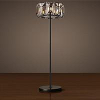 Wholesale floor lamp crystal led standing lamps for living room study room crystal bedroom lamp clear K9 crystal floor lamp V V