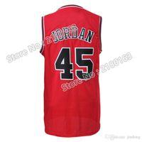 Wholesale hot sale jordan jerseys high quality suture Michael black white red blue jerseys