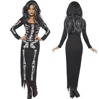 Wholesale Europe Station Explosion European Game Uniform Halloween Party Dresses Human Jumpsuit Skeleton Terror Spirit Festival Clothin XXL