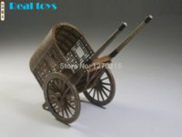 Wholesale Chinese ancient horse drawn vehicle series Ming and Qing Dynasties gharry Model Sidecar assembly kit kit handmade