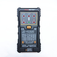 Wholesale PEAKMETER MS5900 Pocket Size Three Phase Rotation Indicator Professional Test Meters for European American Asian African Area