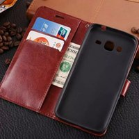 bag holder stand - 1pcs For Samsung Galaxy J3 Vintage Luxury Wallet TPU PU Leather Cases Stand Card Holder Phone Bags Cover Galaxy J310 Phone Skin Cover