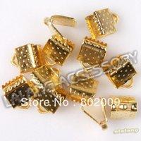 belt buckle components - 750pcs New Iron Metal Connectors Retail Plated Golden Buckle Clasp Components Fit Belt Bracelet mm