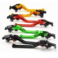 Wholesale 2pcs CNC Long Short Adjuster Brake Clutch Levers For R6 R1 FZ1 R6S Levers