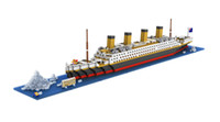 Wholesale LoZ Building Blocks TITANIC Ship L of bricks nanoblock gift toy puzzle minifigure No Box